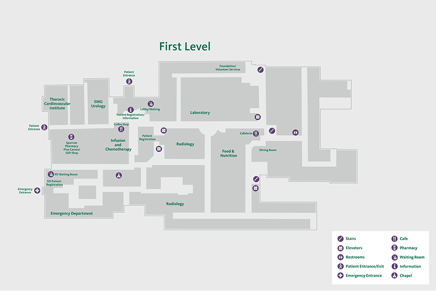 Carson First Floor Map
