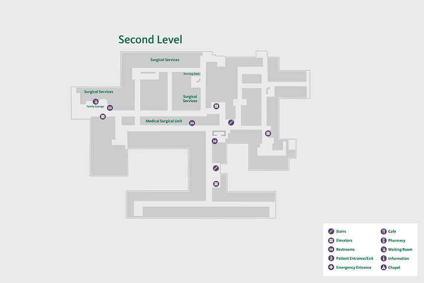 Carson Second Floor Map