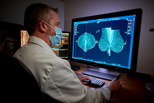 breast cancer clinic scan review